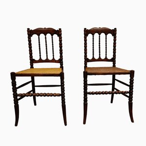 Beistellstühle aus Mahagoni, 1920er, 2er Set