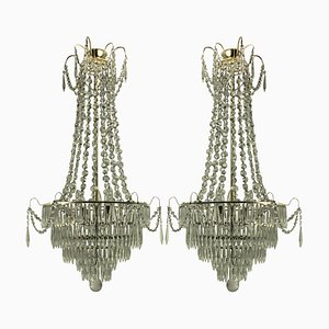 Vintage Swedish Chandeliers, 1930s, Set of 2