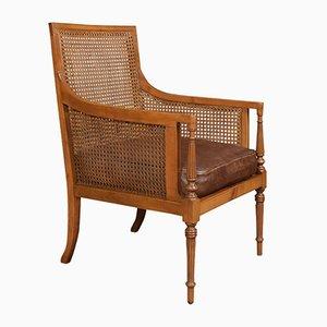 Antique Satinwood Bergere Armchair