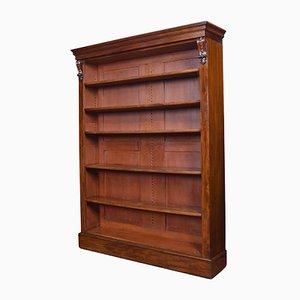 Antique Mahogany Tall Open Bookcase