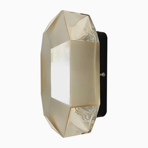 Glass Octagon-Shaped Wall Light, 1960s