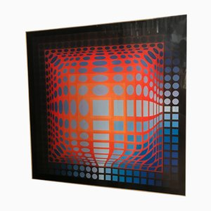 Lithograph by Vasarely, 1970s