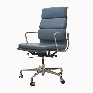 Ice Blue EA219 Soft Pad Office Chair by Charles & Ray Eames for Vitra, 2000s