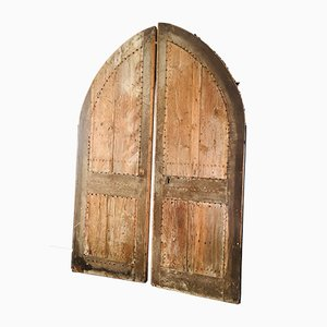 19th Century Oak Church Doors, Set of 2