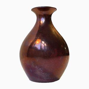 Art Deco Keramik Vase mit Glasur von EBS Klint, 1930er