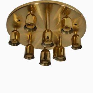 Goldene Vintage Sputnik Deckenlampe im Stil von Cosack, 1970er