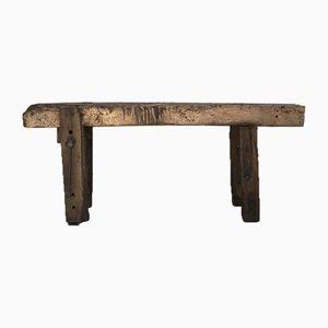 Antique Primitive Workbench in Raw Wood