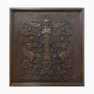 Französische Renaissance Chimäre Tafel aus geschnitztem Holz, 19. Jh