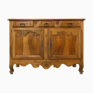 Antique French Louis XV Carved Walnut Sideboard