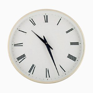 White Plastic Wall Clock by Henning Koppel for Georg Jensen, 1960s