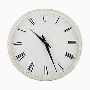 Orologio da parete in plastica bianca di Henning Koppel per Georg Jensen, anni '60