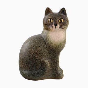 Cat in Glazed Ceramic by Lisa Larson for K-Studion / Gustavsberg