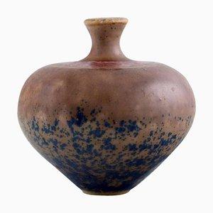 Swedish Vase in Glazed Ceramic by Isak Isaksson, 1988