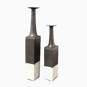 Italian Ceramic Vases by Bruno Gambone, 1970s, Set of 2