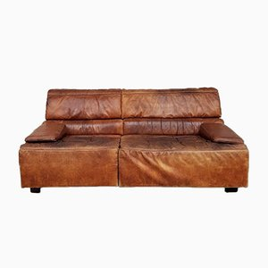 Mid-Century Danish Leather Modular Sofa from de Sede, Set of 2