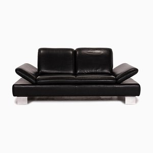 Black Leather Treasure PF 3-Seat Function Sofa from Willi Schillig