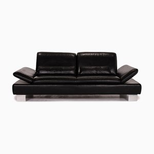 Black Leather Treasure PF 2-Seat Function Sofa from Willi Schillig