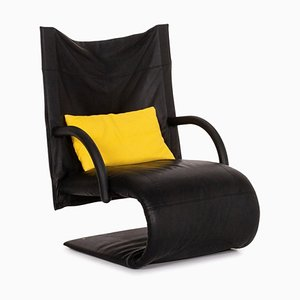 Black Leather Armchair from Ligne Roset