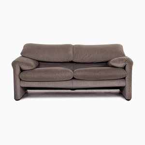 Grey Fabric Maralunga 2-Seat Function Sofa from Cassina