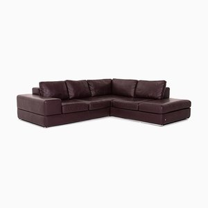 Violet Leather Corner Sofa from Musterring