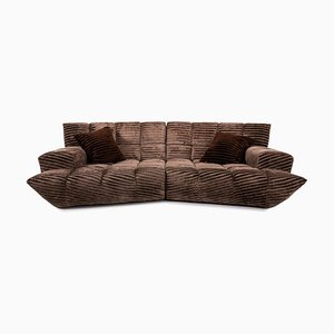 Brown Velvet Cloud 7 Corner Modular Sofa by Bretz Brothers for Bretz