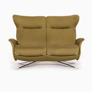 Olive Green Fabric 2-Seat Relax Function Sofa from Joop!