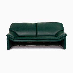 Dark Green Leather Atlanta 2-Seat Sofa from Laauser