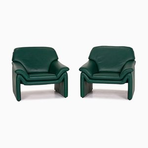 Dark Green Atlanta Armchairs from Laauser, Set of 2