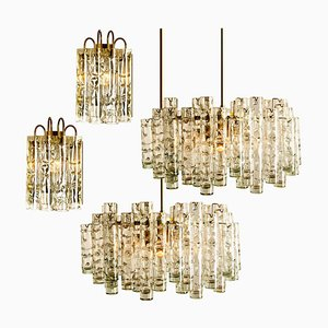 Brass Blown Light Fixtures by Doria Leuchten Germany, 1960s, Set of 4