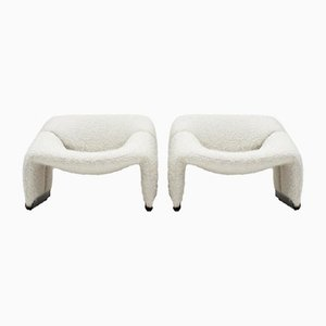 Model F598 Groovy Lounge Chairs by Pierre Frey for Artifort, Netherlands, 1970s, Set of 2
