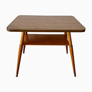Table with Resopal Wooden Top on Wooden Legs, 1950s