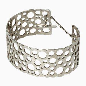Silver Pitsi Bracelet by Liisa Vitali for Nesto, 1971