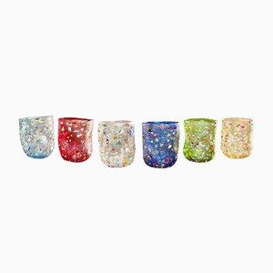 Bicchieri in vetro di Murano di Vetrati, 1998, set di 6