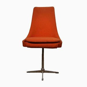 Space Age Orange Swivel Chair, 1970s