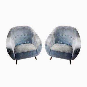 Italian Lounge Chairs, 1950s, Set of 2