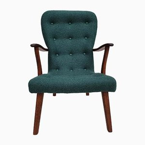 Mid-Century Danish Wool Fabric Armchair, 1960s