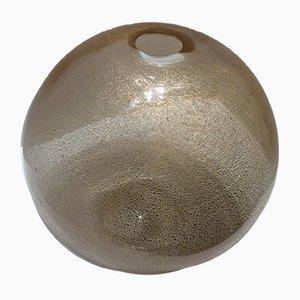 Vase en Feuille d'Or en Verre Murano Attribué à Barovier & Toso, 1960s