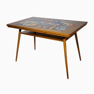 Teak and Ceramic Coffee Table, 1960s