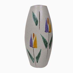 Vintage Keramik Dekor Blumenvase von Scheurich, 1960er