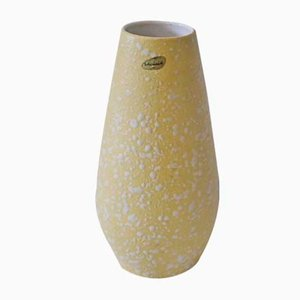 Mid-Century Yellow Flower Vase from Scheurich, 1960s