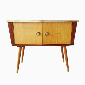 Small Mid-Century German Teak Veneer Chest of Drawers, 1950s