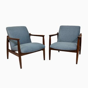 GFM-142 Lounge Chairs by Edmund Homa, 1960s, Set of 2