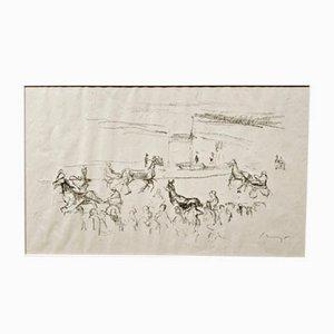 Impressionist Horses No. 3 Lithografie von Max Slevogt, 1911