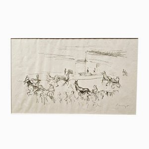 Impressionist Horses No. 3 Lithograph by Max Slevogt, 1911