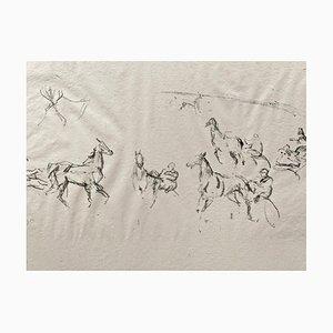 Lithographie Impressionist Horses No. 4 par Max Slevogt, 1911