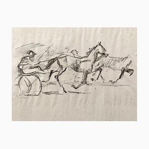 Litografía impresionista Horses No. 5 de Max Slevogt, 1911