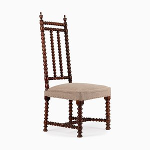 Antique Napoleon III Walnut Bobbin Side Chair, 1850s