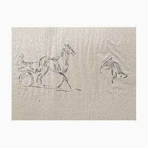 Litografía impresionista Horses No. 6 de Max Slevogt, 1911