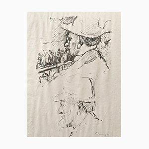 Lithographie Impressionist Horses No. 7 par Max Slevogt, 1911