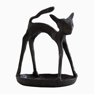 Ashtray Cat Figurine in Iron, 1950s